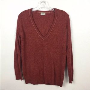 Wallace Lambswool Cashmere V Neck Sweater